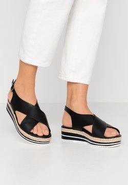 Divine Factory - Korkeakorkoiset sandaalit - noir