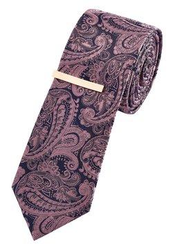 Next - PINK PINK PAISLEY PATTERN TIE WITH TIE CLIP - Krawatte - pink