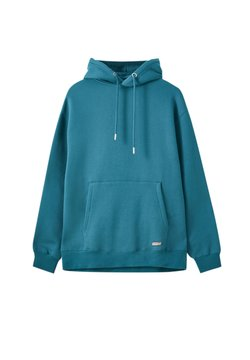 PULL&BEAR - Bluza z kapturem - green