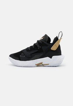 Jordan - WHY NOT ZER0.4 BG UNISEX - Zapatillas de baloncesto - black/white/metallic gold