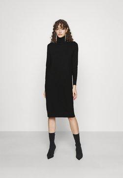 Vila - VIJENEVE ROLLNECK DRESS - Stickad klänning - black