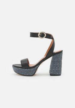 LAB - Korkeakorkoiset sandaalit - black