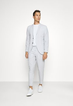Selected Homme - SLHSLIM YONG WHITE STRIPE SUIT - Puku - white/blue