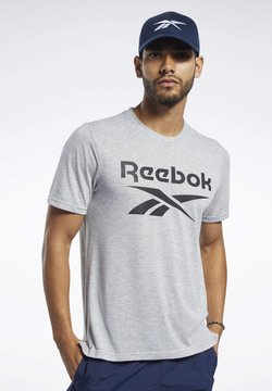 Reebok - SPEEDWICK SPORT SHORT SLEEVE GRAPHIC TEE - T-Shirt print - grey