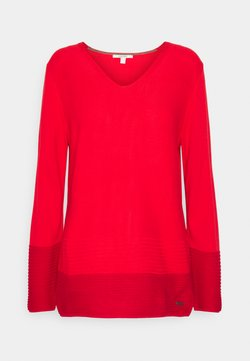 Esprit - CORE VNECK - Pullover - red