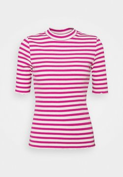 Selected Femme Petite - SLFANNA CREW NECK TEE  - Camiseta estampada - rose violet