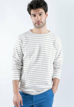 Armor lux - HOUAT MARINIÈRE - Langarmshirt - blanc/flax