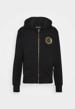 Versace Jeans Couture - FULL ZIP HOODIE WITH LOGO - Collegetakki - nero