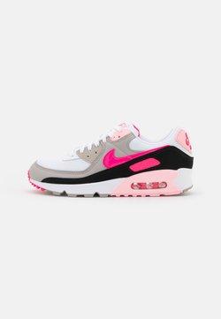 Nike Sportswear - AIR MAX 90 - Sneakers laag - white/hyper pink/black/college grey