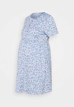 Cotton On - SHORT SLEEVE  BABYDOLL MINI DRESS MATERNITY - Jerseyklänning - authentic blue