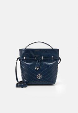 Tory Burch - KIRA CHEVRON TEXTURED MINI BUCKET BAG - Handtasche - federal blue