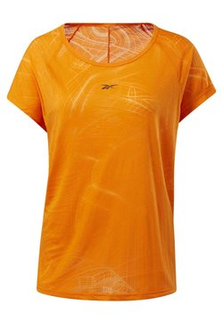 Reebok - BURNOUT T-SHIRT - Printtipaita - orange