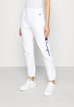 Champion Reverse Weave - ELASTIC CUFF PANTS - Jogginghose - white