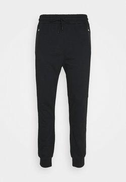 NU-IN - BONDED ZIPPER SLIM FIT  - Jogginghose - black