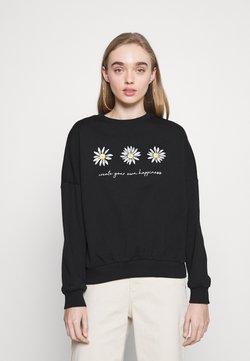 Even&Odd - Printed Crew Neck Sweatshirt - Sweater - black