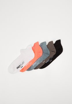 ONLY Play - ONPTRAINING SOCKS COLOR 5 PACK - Urheilusukat - black/black/white/goblin blue