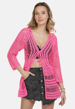 IZIA - IZIA HÄKELJACKE - Strickjacke - neon pink