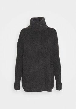 Vila - VIHANNA ROLLNECK - Stickad tröja - dark grey melange