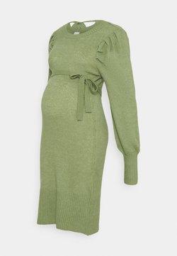 MAMALICIOUS - MLNEVA DRESS - Sukienka dzianinowa - hedge green melange