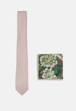 Burton Menswear London - TIE + HANKIE SET - Krawatte - brown