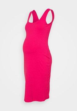 Glamorous Bloom - BODYCON MIDI DRESS WITH WIDE STRAPS AND LOW SQUARE NECKL - Vestito di maglina - hot pink