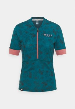 Mons Royale - CADENCE HALF ZIP - T-Shirt print - forest alchemy