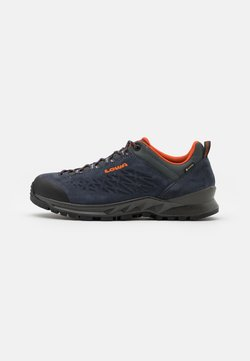 Lowa - EXPLORER GTX LO - Hikingschuh - navy/orange