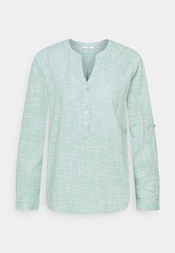 TOM TAILOR - BLOUSE SLUB STRUCTURE - Bluse - soft leaf green