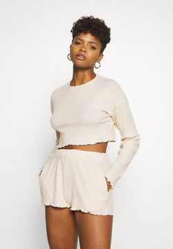 Nly by Nelly - FRILL EDGE SET - Shorts - creme