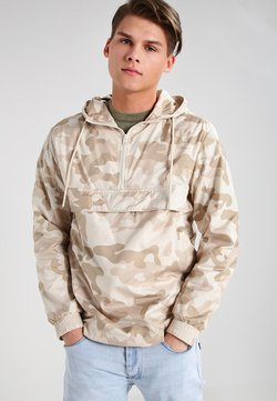Urban Classics - CAMO PULL OVER WINDBREAKER - Windbreaker - sand