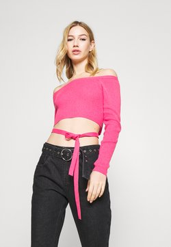 Milk it - BARDOT TOP WAIST TIE DETAIL - Strickpullover - pink