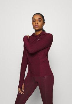 Nike Performance - HOODIE RUNWAY - Funktionsshirt - dark beetroot