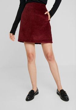 New Look - WELT SKIRT - Bleistiftrock - burgundy