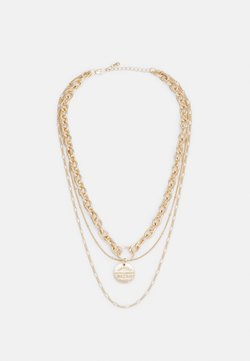 Pieces - MOLLI COMBI NECKLACE - Necklace - gold-coloured