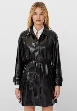 Stradivarius - Trench - black