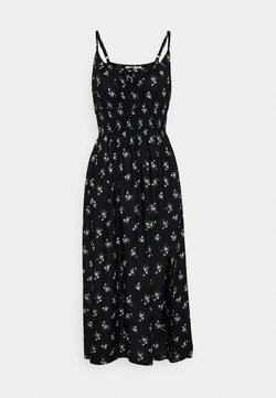 Hollister Co. - MIDI DRESS - Freizeitkleid - black