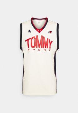 Tommy Hilfiger - BASKETBALL ICONIC TANK - Tekninen urheilupaita - white