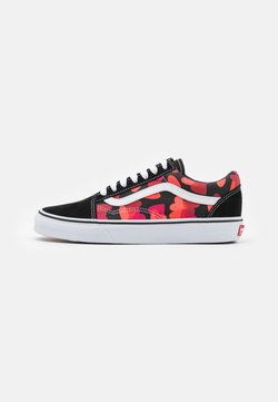Vans - OLD SKOOL - Sneaker low - black/fuchsia purple
