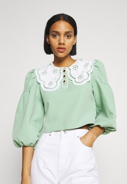 Sister Jane - TOURNAMENT COLLAR CROPPED BLOUSE - Camicetta - green