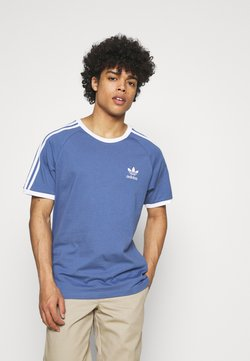 adidas Originals - STRIPES TEE - T-Shirt print - crew blue