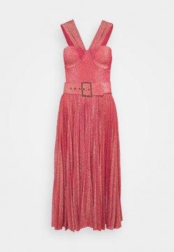 Elisabetta Franchi - WOMEN'S DRESS WITH BELT - Cocktailkleid/festliches Kleid - amaranto