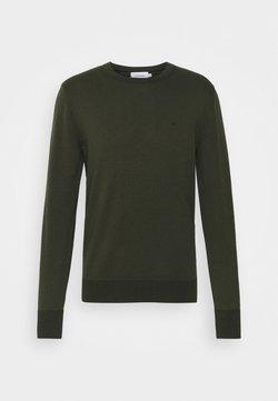 Calvin Klein - C NECK SWEATER - Stickad tröja - dark olive