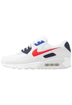 Nike Sportswear - NIKE AIR MAX 90 - Sneakers - white/university red/midnight navy/blue/pure platinum/metallic silver