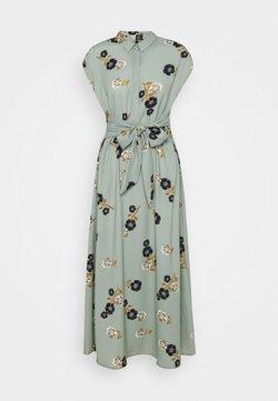 Vero Moda - VMFALLIE LONG TIE DRESS - Skjortekjole - green milieu