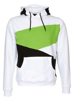 Urban Classics - ZIG ZAG - Kapuzenpullover - white/black/lime green