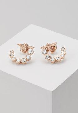 Olivia Burton - BEJEWELLED BEE SWIRL HOOP EARRINGS - Earrings - roségold-coloured