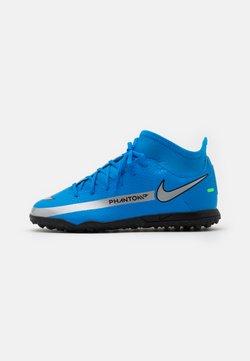 Nike Performance - JR PHANTOM GT CLUB DF TF UNISEX - Hiekkakengät - photo blue/metallic silver/rage green