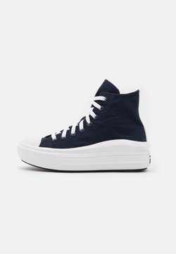 Converse - CHUCK TAYLOR ALL STAR MOVE PLATFORM GLOSSY METAL - Zapatillas altas - obsidian/pure silver/white