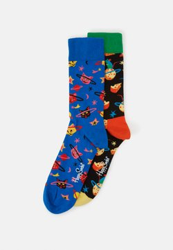 Happy Socks - MOON MOUSE SPACE CAT SOCK 2 PACK - Sokken - black