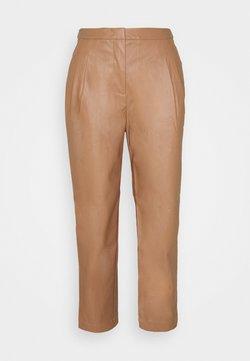 DESIGNERS REMIX - MARIE PLEAT PANTS - Trousers - camel
